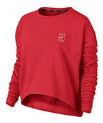 bluza tenisowa damska NIKE TOP LONG SLEEVE BASELINE / 839705-653
