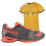 buty tenisowe męskie BABOLAT JET CLAY + koszulka BABOLAT / 30S16631-208