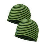 czapka dwustronna do biegania BUFF MICROFIBER REVERSIBLE HAT BUFF YELLOW FLUOR / 113160.117.10