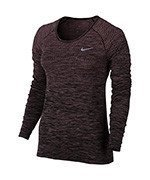 koszulka do biegania damska NIKE DRI-FIT KNIT TOP LONG SLEEVE / 831500-808