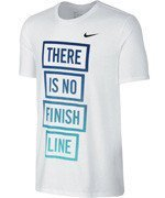 koszulka do biegania męska NIKE RUN DRI-FIT BLEND THERE IS NO FINISH LINE TEE / 778353-100