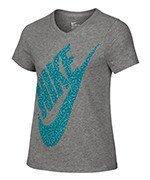 koszulka sportowa dziewczęca NIKE SHORT SLEEVE VNECK T-SHIRT / 822509-063