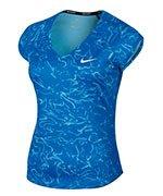 koszulka tenisowa damska NIKE PURE TOP SHORT SLEEVE PRINT / 878795-433
