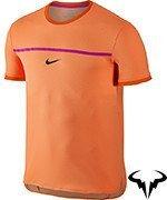 koszulka tenisowa męska NIKE RAFA CHALLENGER TOP SHORT SLEEVE PREMIER / 801704-810
