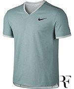 koszulka tenisowa męska NIKE RF DRY TOP SHORT SLEEVE VNECK TEE  / 801710-046
