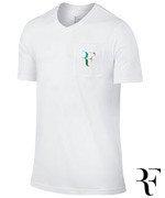 koszulka tenisowa męska NIKE RF STEALTH T-SHIRT / 803882-100