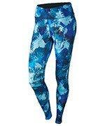 spodnie do biegania damskie NIKE POWER  ESSENTIAL PRINT TIGHT / 848004-457