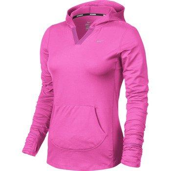 bluza do biegania damska NIKE ELEMENT HOODY SOLID / 545894-667