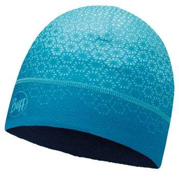 czapka do biegania BUFF MICROFIBER 1 LAYER HAT BUFF HAK TURQUOISE / 113251.789.10
