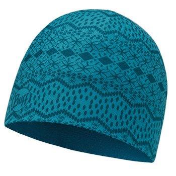 czapka dwustronna do biegania BUFF MICROFIBER REVERSIBLE HAT BUFF SEN BLUE / 113163.707.10