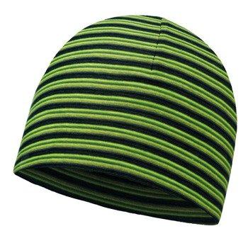 czapka dwustronna do biegania BUFF MICROFIBER REVERSIBLE HAT BUFF YELLOW FLUOR / 113160.117.10