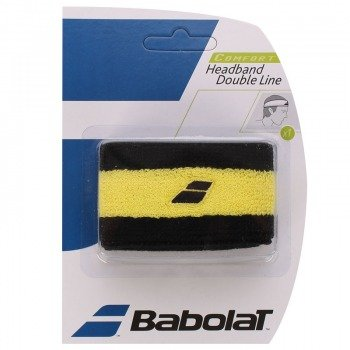 frotka tenisowa BABOLAT HEADBAND DOUBLE LINE Black/Yellow