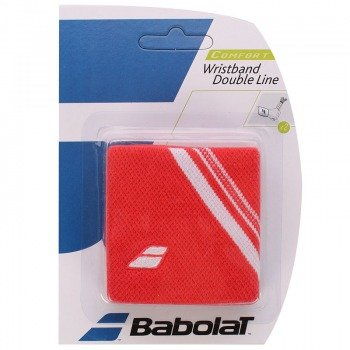 frotka tenisowa BABOLAT WRISTBAND DOUBLE LINE Red