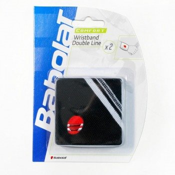 frotki tenisowe BABOLAT WRISTBAND DOUBLE LINE x2 black
