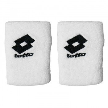 frotki tenisowe LOTTO LOGO WRIST BAND UNIKING x2 white/black