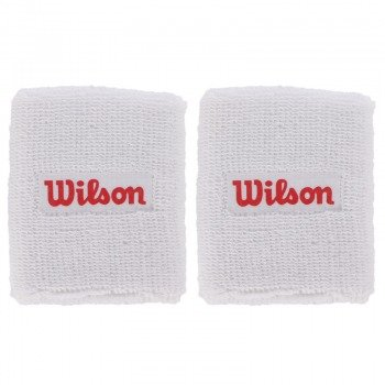 frotki tenisowe WILSON DOUBLE WRISTBAND WH/RD