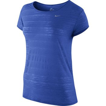 koszulka do biegania damska NIKE DRI FIT TOUCH BREEZE STRIPE SHORTSLEEVE / 589044-439