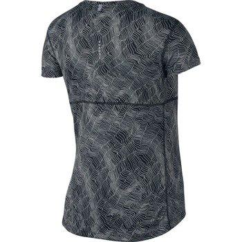 koszulka do biegania damska NIKE DRY MILER TOP SHORT SLEEVE PRINT / 799560-010