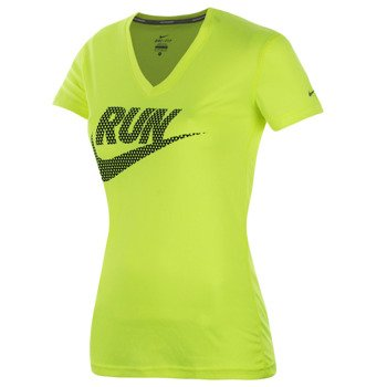 koszulka do biegania damska NIKE LEGEND V-NECK SHORTSLEEVE RUN SWOOSH / 588557-731