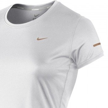 koszulka do biegania damska NIKE MILER SHORTSLEEVE CREW TOP / 519829-100