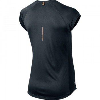 koszulka do biegania damska NIKE MILER SHORTSLEEVE V-NECK TOP / 519831-010