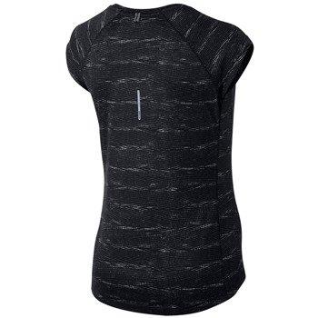 koszulka do biegania damska NIKE PRINTED MILER SS V-NECK / 644701-010