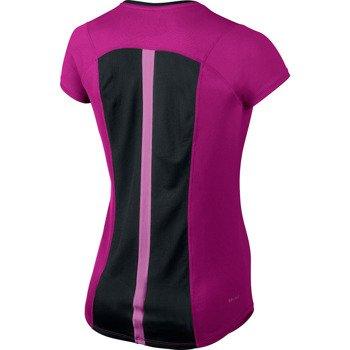 koszulka do biegania damska NIKE RACER SHORTSLEEVE TOP / 520276-513