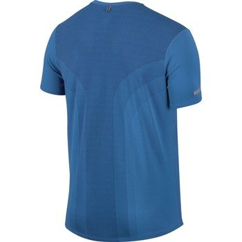 koszulka do biegania męska NIKE DRI-FIT CONTOUR SHORT SLEEVE  / 683517-435