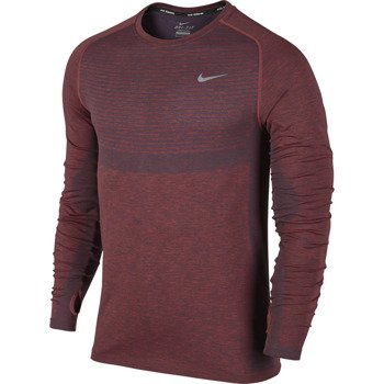 koszulka do biegania męska NIKE DRI-FIT KNIT LONG SLEEVE / 717760-406