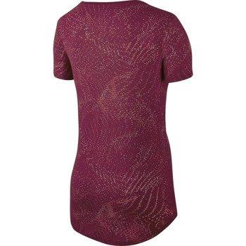 koszulka sportowa damska NIKE TEE BURNOUT GLITCH / 803993-620