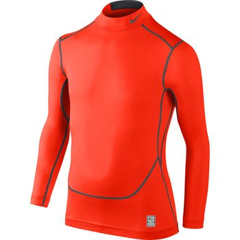 koszulka sportowa termoaktywna juniorska NIKE PRO COMBAT CORE COMPRESSION LONGSLEEVE MOCK / 522803-853