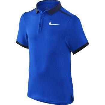 koszulka tenisowa chłopięca NIKE ADVANTAGE SOLID POLO  / 724435-439