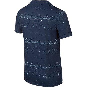 koszulka tenisowa chłopięca NIKE RALLY SPHERE STRIPE CREW