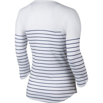 koszulka tenisowa damska NIKE PRINTED BASELINE 3/4 TOP / 677759-447