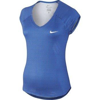 koszulka tenisowa damska NIKE PRINTED PURE TOP / 728759-439