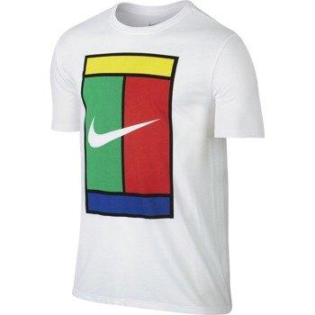 koszulka tenisowa męska NIKE COURT LOGO CREW / 739479-100