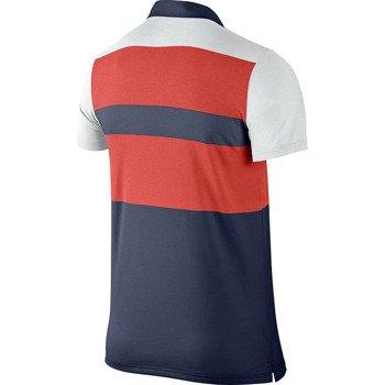 koszulka tenisowa męska NIKE DRI-FIT TOUCH STRIPE POLO / 596566-451
