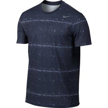 koszulka tenisowa męska NIKE RALLY SPHERE STRIPE CREW