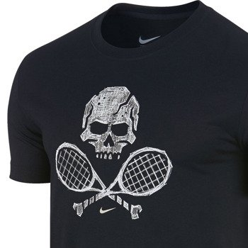 koszulka tenisowa męska NIKE SKULL & RACQUETS TEE 2 / 639425-010