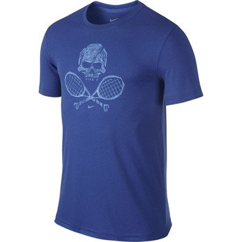 koszulka tenisowa męska NIKE SKULL & RACQUETS TEE 2 / 639425-480