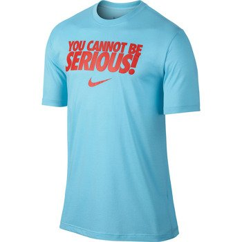 koszulka tenisowa męska NIKE YOU CANNOT BE SERIOUS TEE / 621723-419