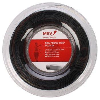 naciąg tenisowy MSV FOCUS HEX PLU25 200M BLACK