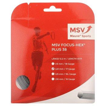 naciąg tenisowy MSV FOCUS HEX PLUS 38 12M Black