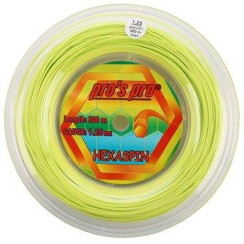 naciąg tenisowy PRO'S PRO HEXASPIN LIME 200M / TNPP-029