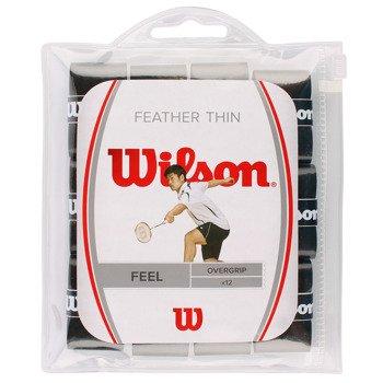owijki tenisowe WILSON FEATHERTHIN OVERGRIP X12 / WRR9354BK