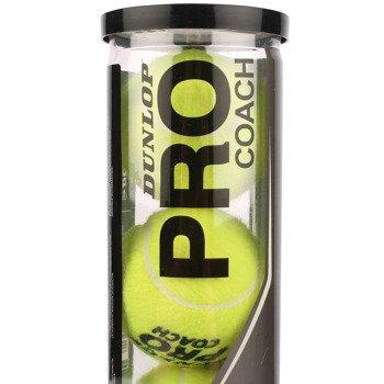 piłki tenisowe DUNLOP PRO COACH 4szt. / TPD-057