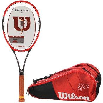 rakieta tenisowa WILSON PRO STAFF 97 + torba tenisowa WILSON FEDERER COURT 12 PK / WRT72490 / WRZ833412