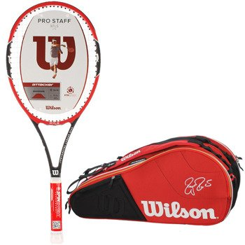 rakieta tenisowa WILSON PRO STAFF 97LS + torba tenisowa WILSON FEDERER COURT 9 PK / WRT72500 / WRZ835409