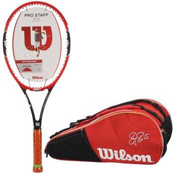 rakieta tenisowa WILSON PRO STAFF RF97A Autograph Roger Federer + torba tenisowa WILSON FEDERER COURT 15 PK / WRT72481 / WRZ835415