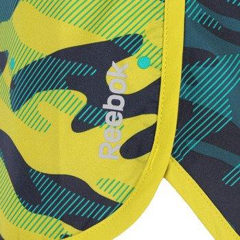 spodenki sportowe damskie REEBOK WORKOUT READY PRINTED BOARD SHORT / AA9768
